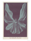 Loie Fuller (Mary Louise Fuller) American Dancer as le Papillon de Nuit at the Bouffes-Parisiens Lámina giclée