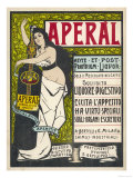 Aperal, Aperitif Which May be Drunk on Its Own or Mixed with Your Coffee Giclée-Druck