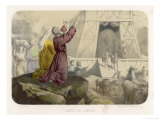 While the Animals Leave His Ark Noah Gives Thanks to God for Preserving Him from the Flood Giclee Print