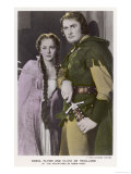 "Erroll Flynn as Robin and Olivia de Havilland as Maid Marian in ""The Adventures of Robin Hood"" 1938 Impressão giclée"