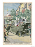Archduke Franz Ferdinand and His Wife Assassinated in Sarajevo Giclee Print