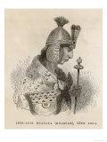 Washkar Inka (Or Huascar Inca) (Original Name Tupac Cusi Huallpar) Inca Emperor of Peru Lámina giclée