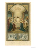 Jesus and His Disciples at the Last Supper Giclée-vedos