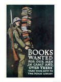Poster of the American Association of Libraries for Supplying Books to the Troops on Service Giclee Print