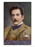 Giacomo Puccini Italian Opera Composer in Middle Age Giclee Print
