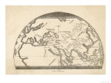 Map Tracing the Journeys Made by Marco Polo Giclee Print