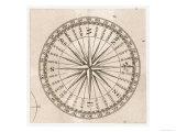Compass Rose Lámina giclée