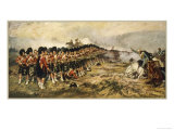 "The ""Thin Red Line"" of the 93rd Highlanders Repel the Russian Cavalry Giclee Print"