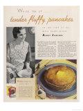 Aunt Jemima's Pancake Mix for Tender Fluffy Pancakes Reproduction procédé giclée