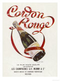 Mumm's Cordon Rouge Champagne Reproduction procédé giclée