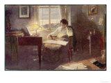 Ludwig Van Beethoven Composing Giclee Print