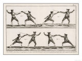 Instruction in the Art of Fencing. 2 of 9 Giclee Print