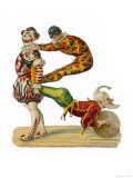 Three Clowns in Traditional Dress Giclee Print