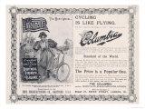 "Advertisement for the American ""Columbia"" Bicycle Lámina giclée"