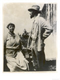 D H Lawrence English Novelist with His German Wife Frieda Reproduction procédé giclée