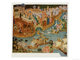 Marco Polo Leaves Venice Almost Certainly on His Second Trip in 1271 Giclee Print