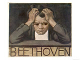 Ludwig Van Beethoven Beethoven Struggles with His Inner Demons as He Composes His 9th Symphony Giclee Print
