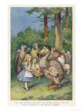 """The Dodo Solemnly Presented the Thimble Saying """"We Beg Your Acceptance of This Elegant Thimble"""" Giclee-trykk av John Tenniel"""