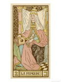 Tarot: 2 La Papesse, The Female Pope Giclee Print by Oswald Wirth