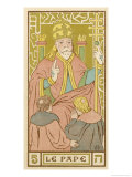 Tarot: 5 Le Pape, The Pope Giclee Print by Oswald Wirth