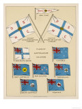 Mail Ship Flags and Others Giclee Print