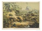 Animals (Including Homo Sapiens) at the Time of the Flood Giclée-Druck von Ferdinand Von Hochstetter