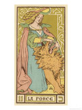 Tarot: 11 La Force, Strength Giclee Print by Oswald Wirth