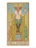 Tarot: 15 Le Diable, The Devil Giclee Print by Oswald Wirth