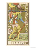 Tarot: The Fool Giclee Print by Oswald Wirth
