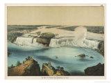 The Niagara Falls Between Canada and the United States, The American Fall Giclée-Druck von Ferdinand Von Hochstetter