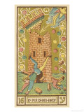 Tarot: 16 La Maison Dieu, The Tower Giclee Print by Oswald Wirth