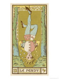 Tarot: 12 Le Pendu, The Hanged Man Giclee Print by Oswald Wirth