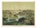 Animals and Plants of the Tertiary Era in Europe Giclée-Druck von Ferdinand Von Hochstetter