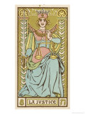 Tarot: 8 La Justice Giclee Print by Oswald Wirth