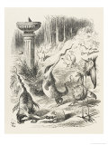 Toves Raths and Borogroves, Invented Creatures of the Jabberwocky Poem Giclee-trykk av John Tenniel