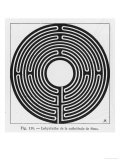 Circular Maze in the Cathedral at Sens France Giclee Print