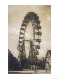Big Wheel Built by British Engineer Walter Bassett and Opened in the Prater Vienna on 21 June 1897 Reproduction procédé giclée