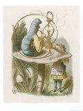 Alice and the Caterpillar Stampa giclée di Tenniel, John