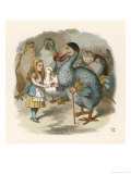 Alice and the Dodo Giclee-trykk av John Tenniel