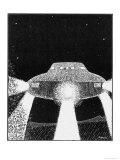 Domed Disc UFO Seen by Frank Slotta Near Radium Hot Springs, British Columbia ジクレープリント : ゾメク