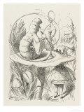 Caterpillar Alice and the Caterpillar Impressão giclée por John Tenniel