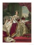 Queen Victoria Circa 1845 Reproduction procédé giclée par Franz Xaver Winterhalter