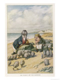 The Walrus and the Carpenter Giclée-tryk af John Tenniel