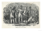 American Settlers Selling Arms to the Native Americans Giclee Print