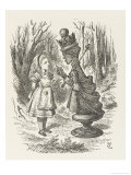 Alice and the Red Queen Giclee-trykk av John Tenniel