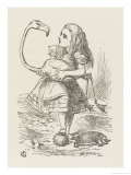 Croquet Alice with the Flamingo Giclée-Druck von John Tenniel