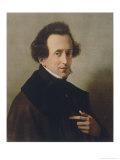 Felix Mendelssohn Composer in 1835 Giclée-Druck von W. Von Schadow