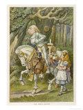 White Knight the White Knight Giclee-trykk av John Tenniel