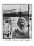 Advertising Poster for Sergei Eisensteins 1925 Film Battleship Potemkin Giclee-trykk