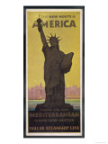 The New Route to America, Dollar Steamship Line Via the Mediterranean to New York and Boston Giclée-vedos